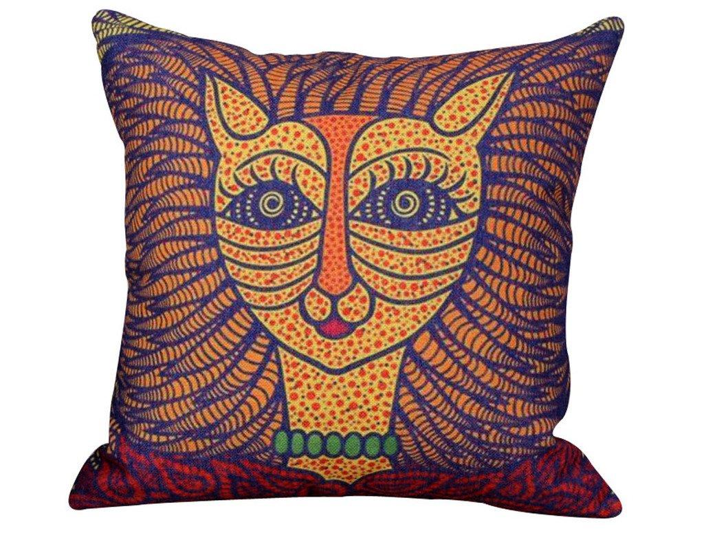 En. La casa de lino de algodón cojines decorativos para sofá Miss leopardo 45,72 cm X 45,72 cm: Amazon.es: Hogar