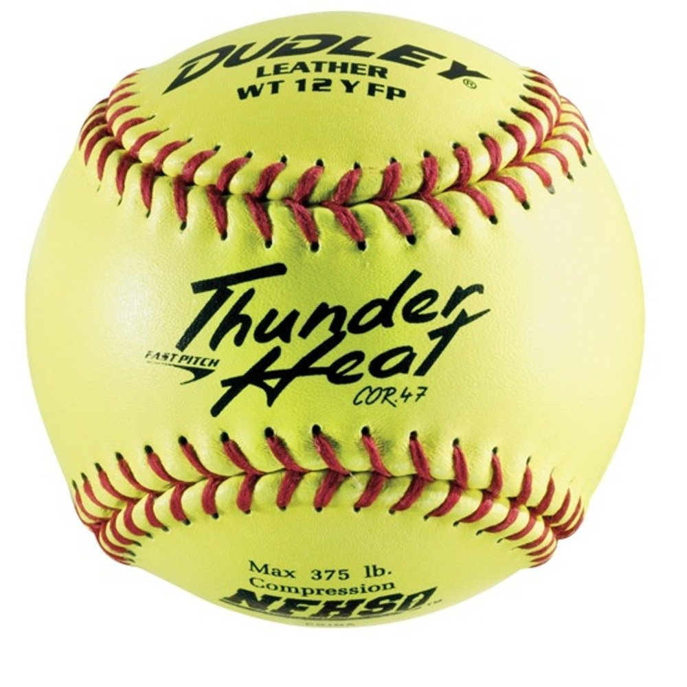 Dudley NFHS B000VGZCII Thunder Heatレザー12-inchイエロー高速ピッチソフトボール、.47 NFHS/ ) 375-pounds、レッドステッチ(パックof 12 ) B000VGZCII, ジェームスリセールガレージ:16867526 --- sayselfiee.com