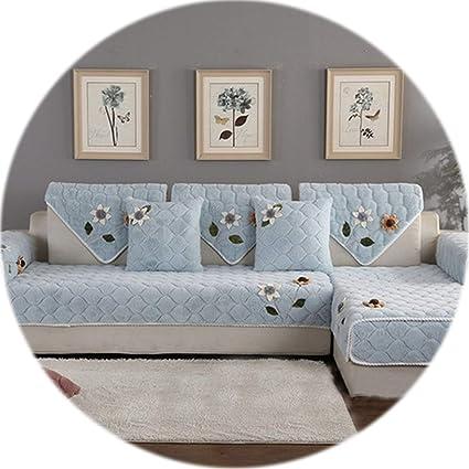 Amazon.com: HANBINGPO Korean Floral Applique Wine red Sofa ...
