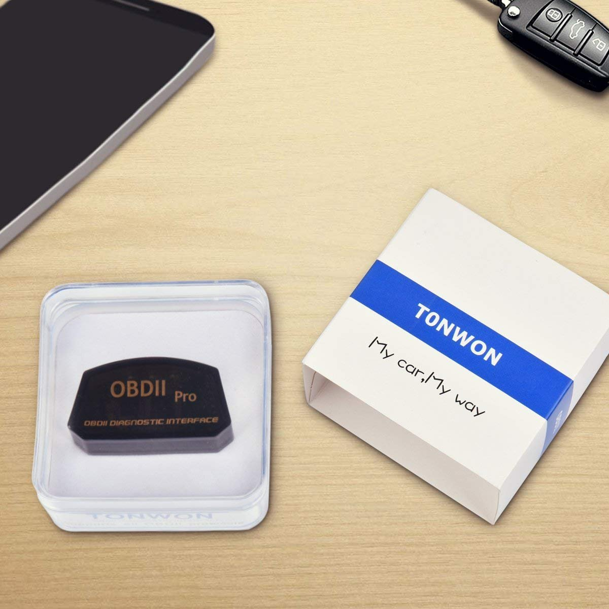TONWON Pro Wi-Fi OBD2 ELM327 Car Fault Code Reader for iOS and Android