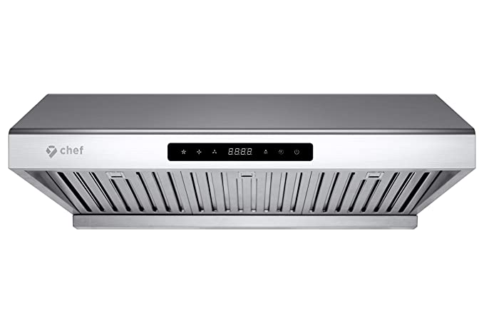 Chef Range Hood Ps10 30 Pro Performance Under Cabinet Kitchen Extractor Stainless Steel Electric Stove Ventilator 3 Speed 900 Cfm Exhaust Fan