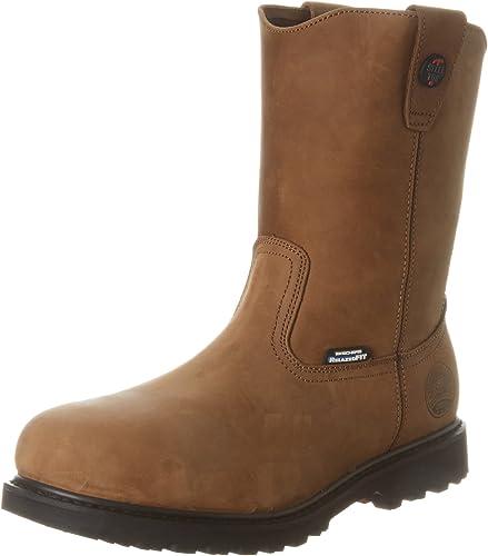 skechers mens boots work boot