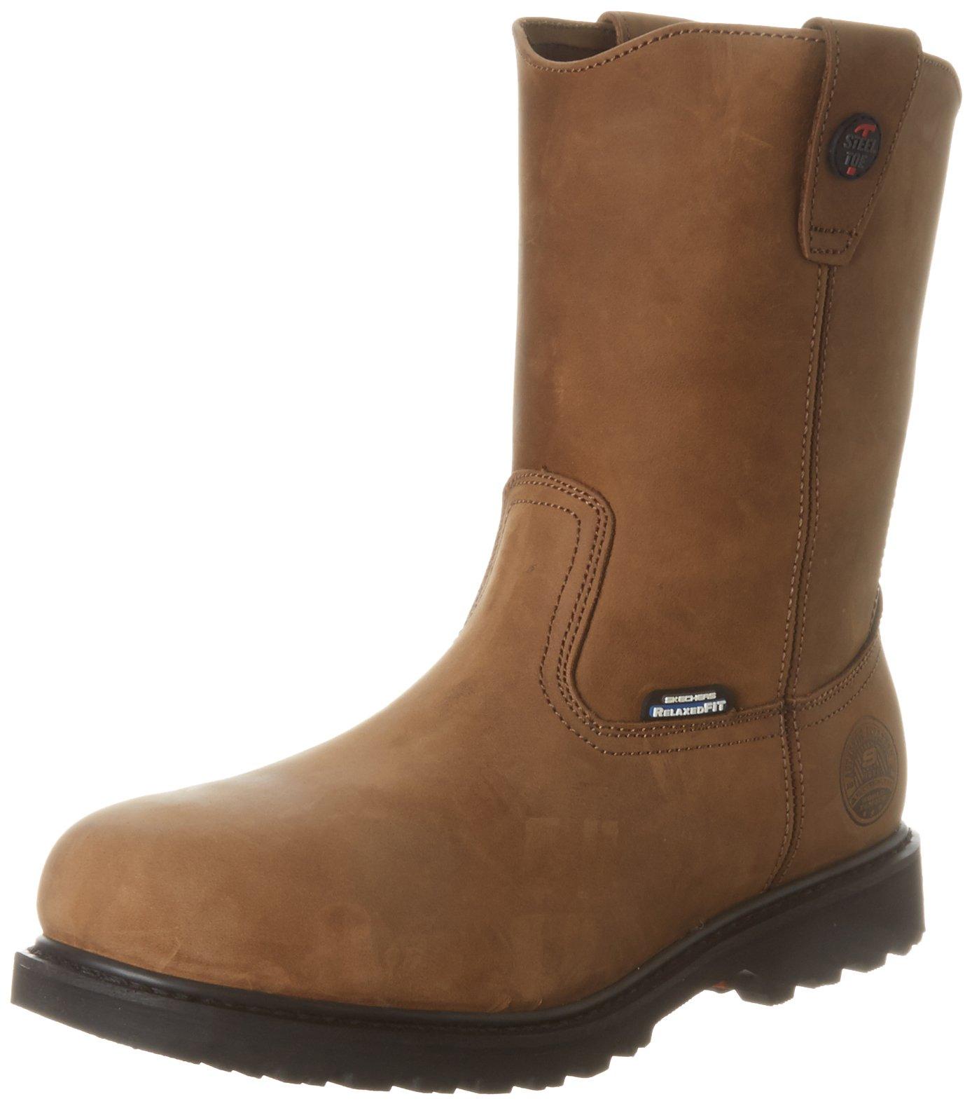 Skechers for Work Men's Ruffneck Steel Toe Work Boot,Dark Brown,11 M US