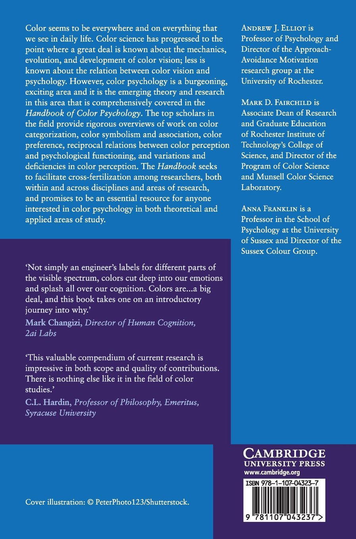Handbook of Color Psychology Cambridge Handbooks in Psychology ...