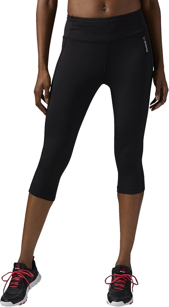 Amazon.com: Reebok Womens Work Out Ready Pant Capri, Black ...