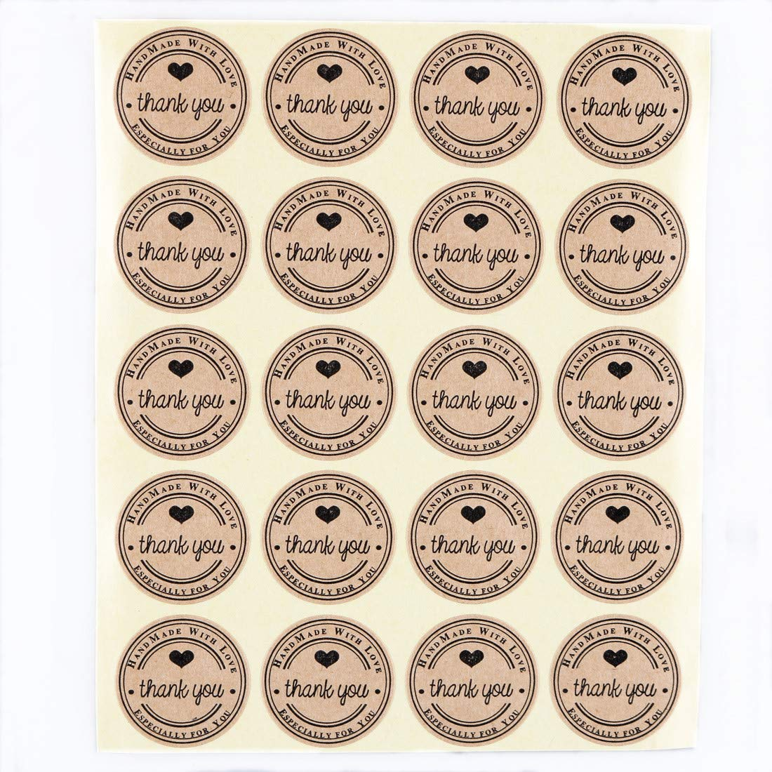 1000 25mm hand made kraft paper gift cookies label sticker suppliers wholesale and custom label amazon co uk kitchen home