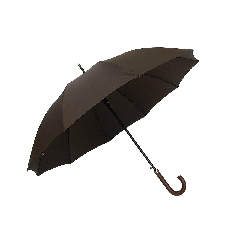 SMATI Parapluie Long - Anti tempête - Ouverture automatique - Super Solide avec 10 baleines en Fibre (Bleu)