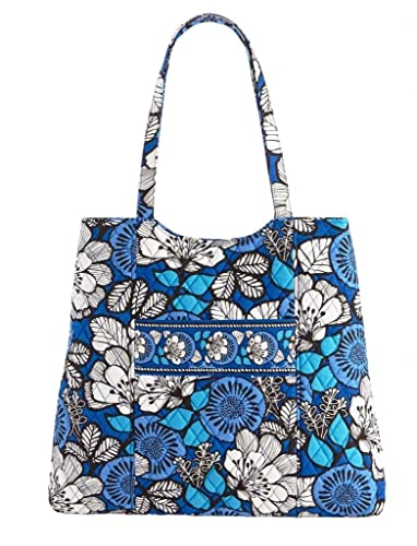 6909dd565a Amazon.com  Vera Bradley Curvy Tote in Blue Bayou  Shoes