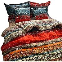 YOUMIMAX Bohemia Retro Printing Duvet Cover Set 100% Brushed Cotton Bedding Sets