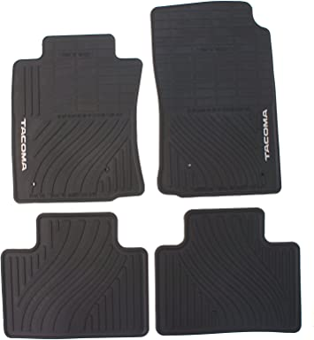 Genuine Toyota Accessories PT908-35000-02 Front All-Weather Floor Mat Black Set of 2