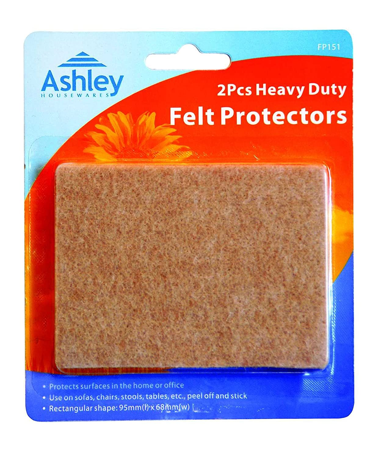 2 Pack Heavy Duty Felt Protectors For use on Sofas, Chairs, Stools, Tables, etc. 95 mm x 68 mm Not Known