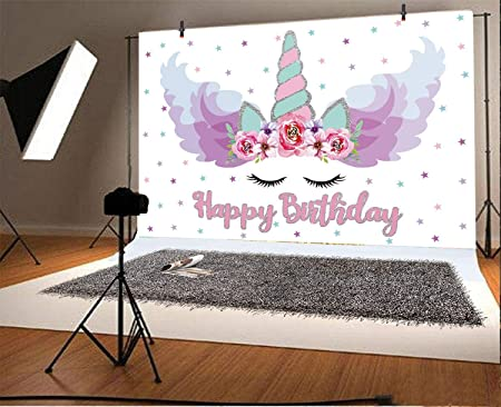 FLASIY 7x5ft Fairy Tale Photography Background Balloon White Horse Backdrop for Children Parties Decoration Photo Studio Video Props GEAY207