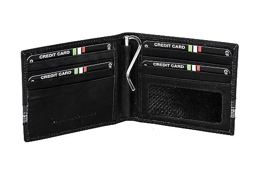 932520545a Pierre Cardin Mini portafoglio uomo GIANMARCO VENTURI nero con ferretto  ferma banconote A3824: Amazon.it: Scarpe e borse