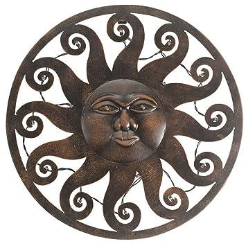 Décoration Murale Lumineuse Soleil Céleste Extérieur Par Smart