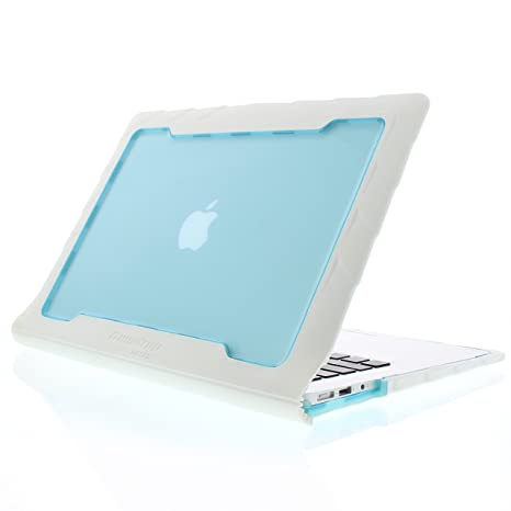 new arrival 9816e 4daea Gumdrop DropTech Case Designed for Apple MacBook Air 13 Inch Laptop for  K-12 Students, Teachers, Kids - White/Blue, Rugged, Extreme Drop Protection
