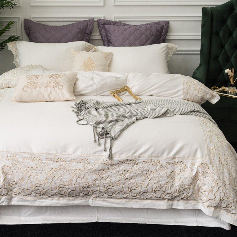 羽毛布団カバー4個セット 100% コットン 1.8 m のベッド ヨーロッパ スタイルの寝具 綿] 4 6 ピース半袖-B 220*240cm B07F5LGZ4C 220*240cm|B B 220*240cm
