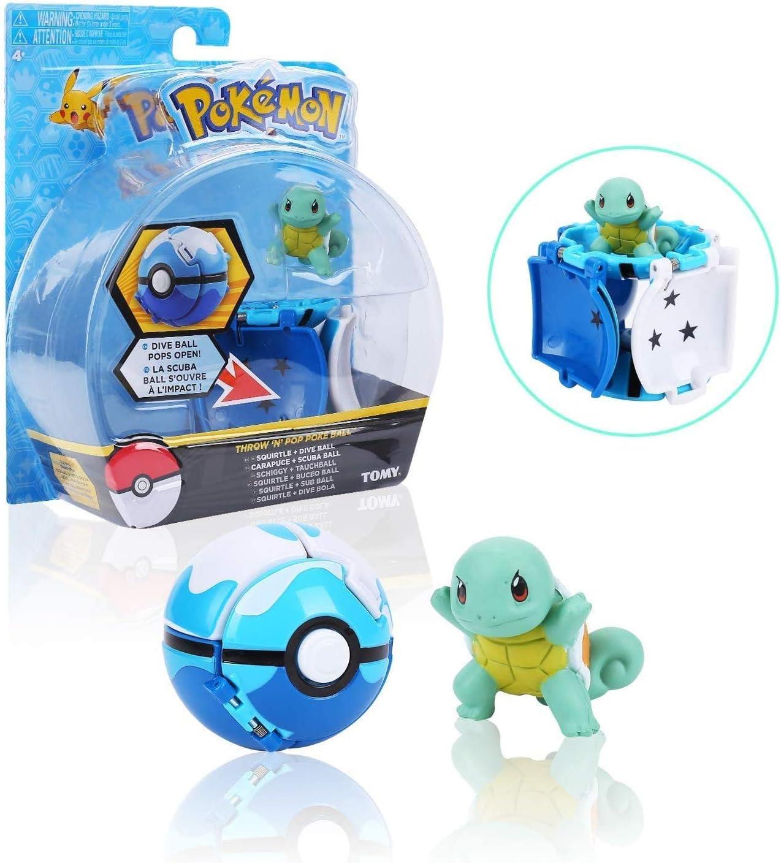 """su ma Pokemon Poke Ball Squirtle Pokemon Action Figure Poke Ball a Apertura Automatica Throw N Pop Pok/é Ball/"""" per Bambini e Adulti Festa Celebrazione Divertente Giocattolo Regalo Regalo"""