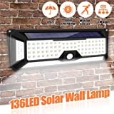 Solar Outdoor Lamp,PIR Motion Sensor 136LED Light