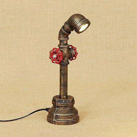 Lámpara de mesa de tubo de hierro lámpara de mesa creativa ...