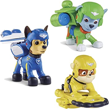 PAW PATROL Maven Regalos, Air Rescue Chase, Pup Pack & Badge, Air Rescue Rubble, Pup Pack & Badge, Air Rescue Rocky, Pup Pack & Badge: Amazon.es: Juguetes y juegos