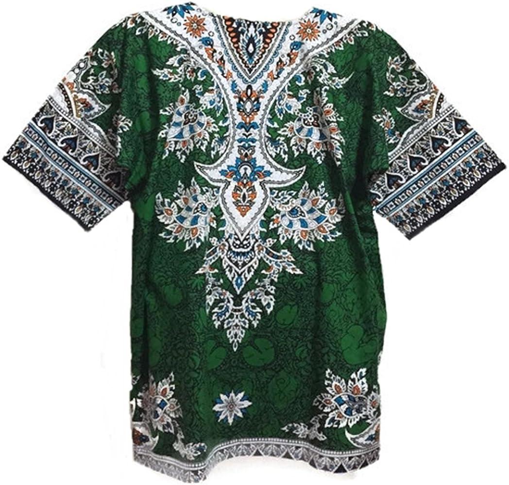 Dashiki Camisa africana Caftan Festival camiseta Unisex Dashiki Verde Tamaño Mediano: Amazon.es: Ropa y accesorios