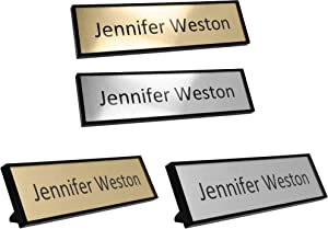 "Custom Office Name Plate Kit – Personalized – Print at Home – Desk or Wall Mounted – 2"" x 8"" – Includes Mounting Hardware and 4 Printable Name Sheets"