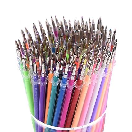 130 Colors Gel Pen Refills - Glitter Metallic Pastel Fluorescence Neon, Pen  Ink Refills for