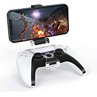 TiMOVO Phone Clip Mount for PS5 Controller, Adjustable Mobile Phone Gaming Clamp Bracket Stand Holder Fit PS5 DualSense…