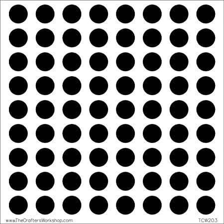 crafters workshop plastic template 6 inch x 6 inch circle grid
