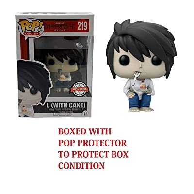 DN Death Note! POP! Animation L (with Cake) Special Edition Exclusive Vinyl Figure (Bundled with .5mm pop Protector case): Home & Kitchen