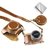 First2savvv full body Precise Fit PU leather digital camera case bag cover with should strap for Olympus PEN E-PL9 with 14-42mm F3.5-5.6 Lens + Cleaning cloth XJD-EPL9-HH09