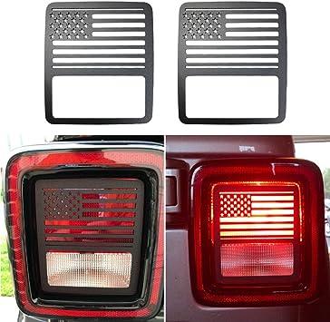 Brake Light Cover for Jeep Wrangler Third Tail Light Cover Rear Lamp Protector for 2018-2019 Jeep Wrangler JL JLU