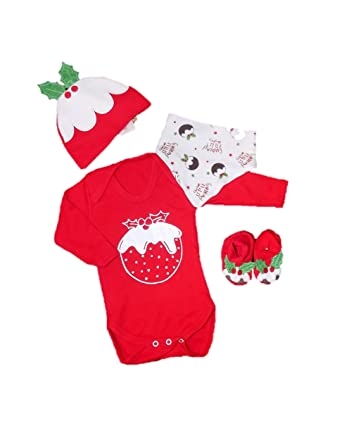 Christmas Pudding Baby Outfit.Novelty Christmas Pudding Baby Fancy Dress Costume Xmas
