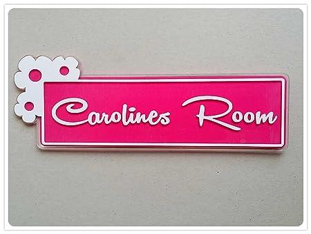 Cartel para puerta de dormitorio personalizado con nombre ...