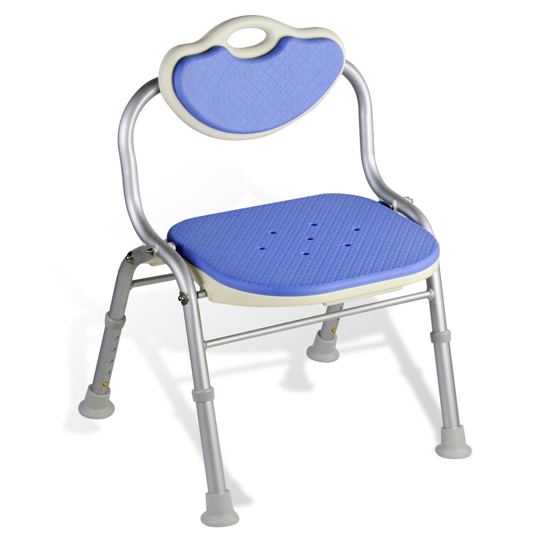 【再入荷】 シャワー/バススツール高齢者/障害者のためのアルミ合金シャワーシートスツールアンチスリップマットシャワーチェアは、背もたれバスシートのヘビーデューティーブルー   B07F357ZSR, ジーラブ:4097f760 --- garagegrands.com