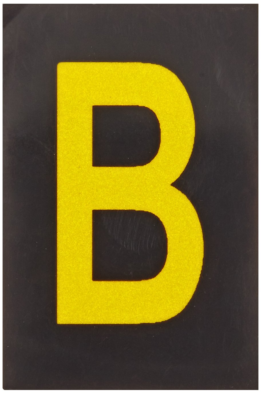 Legend B B-997 Engineering Grade Bradylite Reflective Sheeting Brady 5905-B Bradylite 1-1//2 Height 1 Width Pack Of 25 Yellow On Black Reflective Letter