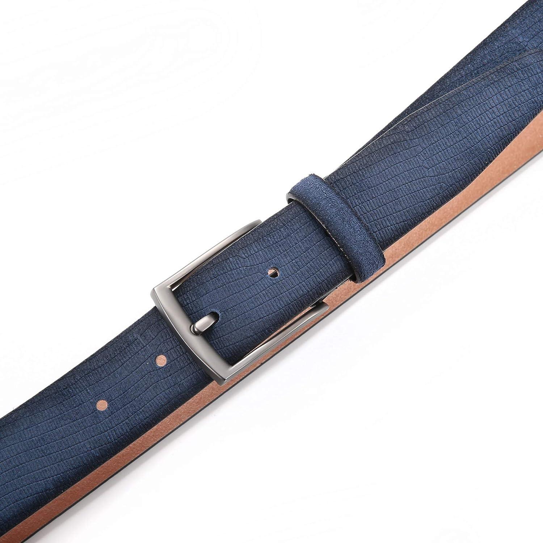 Hombre Hombres Cinturones Cinturon De Piel De Ante Genuino Para Pantalones Pin Hebilla Con Correa De 34 Mm De Ancho Ropa Saconnects Org