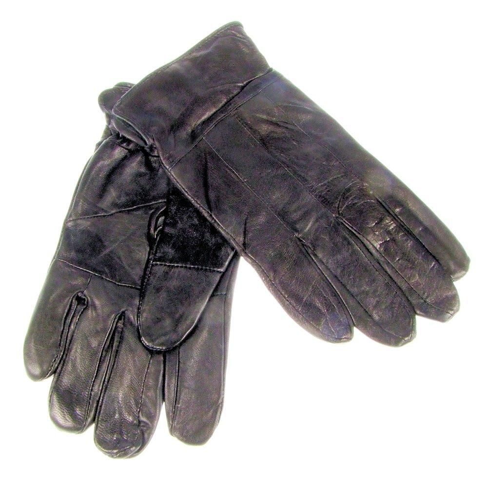 Guantes de piel Para Hombre Con Parte Superior costuras negro S/M (b929sm)