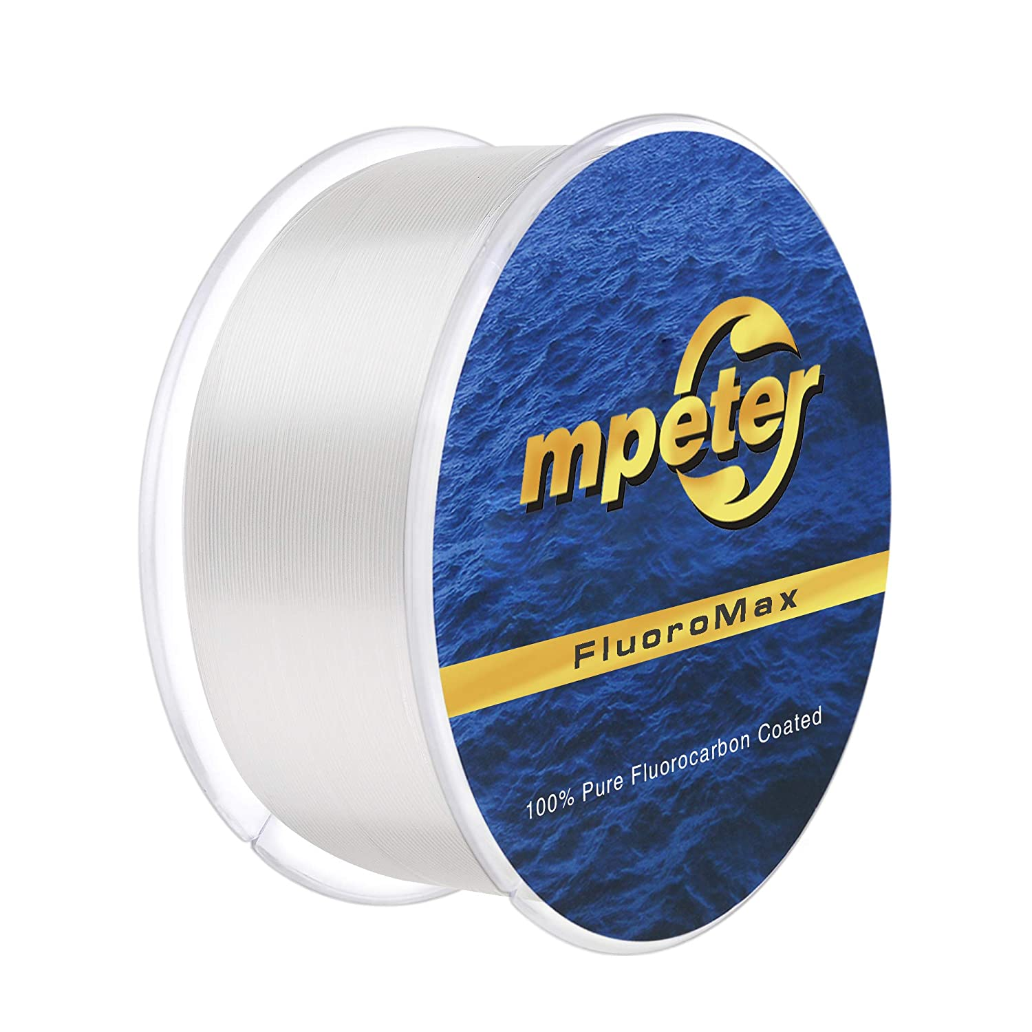 mpeter FluoroMax Fishing line 100/% Pure Fluorocarbon Coated Fishing Line-300Yds//275M High Strength Perfect Substitute Solid Fluorocarbon Line