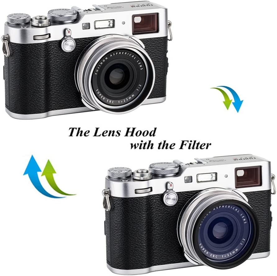 sustituye Fujifilm LH-X100 /& AR-X100 plateado JJC Parasol de objetivo con anillo adaptador para c/ámaras Fujifilm Fuji X100V X100 X100S X100T X100F