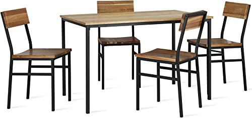 Novogratz Linden 5-Piece Wood and Metal