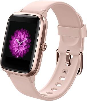 Reloj Inteligente Mujer, Smartwatch Impermeable IP68 Pulsera Actividad Inteligente con Monitor de Pulsómetro/Podómetro/Sueño/Calorías/Cronómetros Reloj Deportivo Hombre para Xiaomi Huawei iPhone: Amazon.es: Electrónica