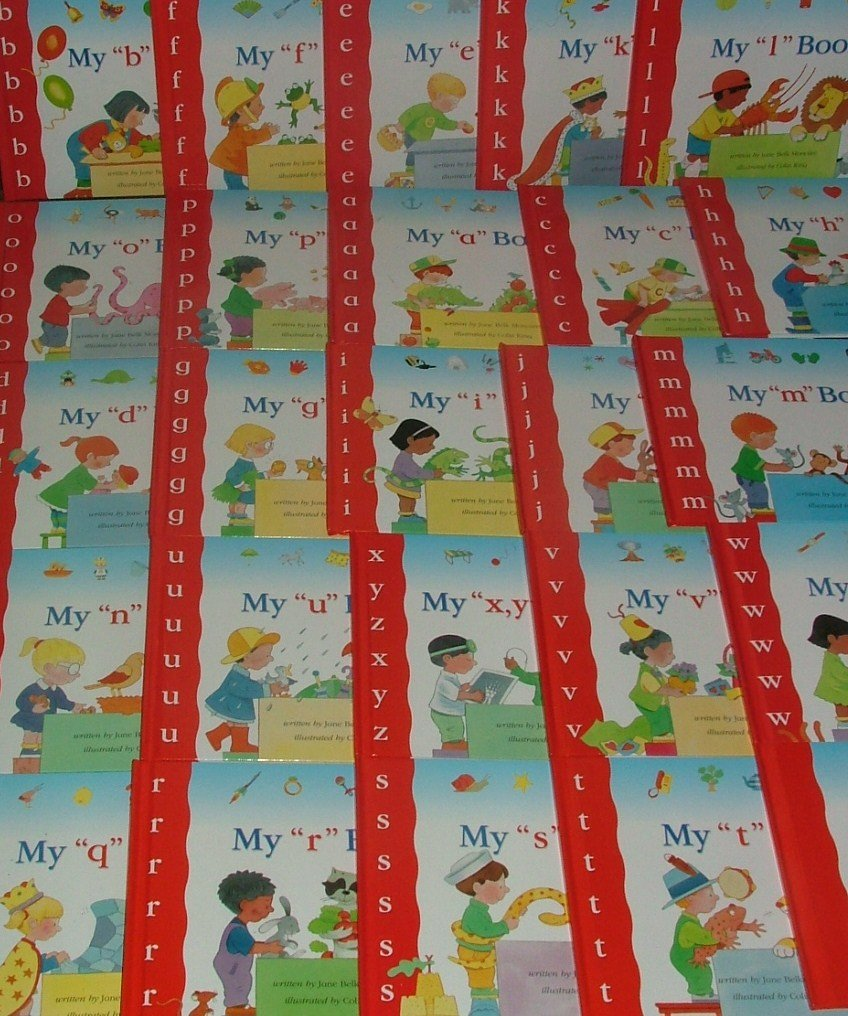 A-to-Z: MY FIRST STEPS TO READING: complete 25 books SET[Red Spines] ebook