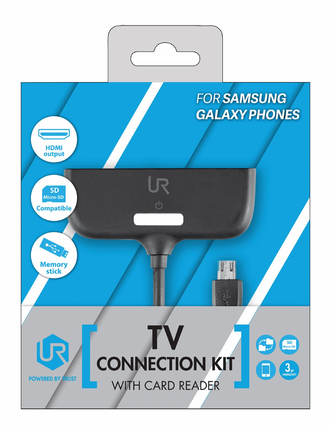 Trust Urban TV Connection Kit with Card Reader for Samsung Galaxy ...