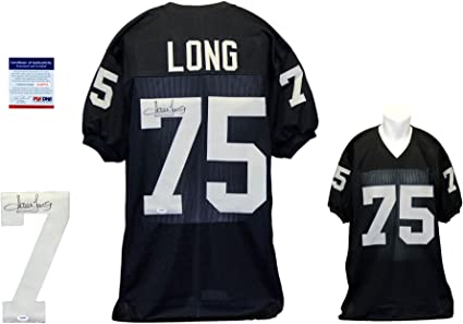 Howie Long Signed Custom Jersey - PSA/DNA - Autographed - Black