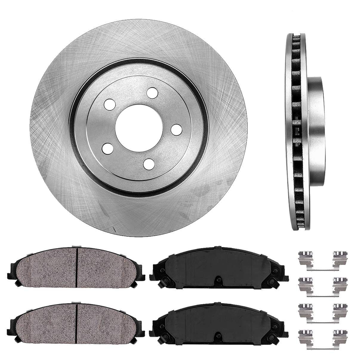 2005 2006 Fit Chrysler 300 Rotors Ceramic Pads F+R See Desc. OE Replacement