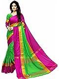 Alka Fashion Women's Cotton Silk Saree, Free Size (greensari)