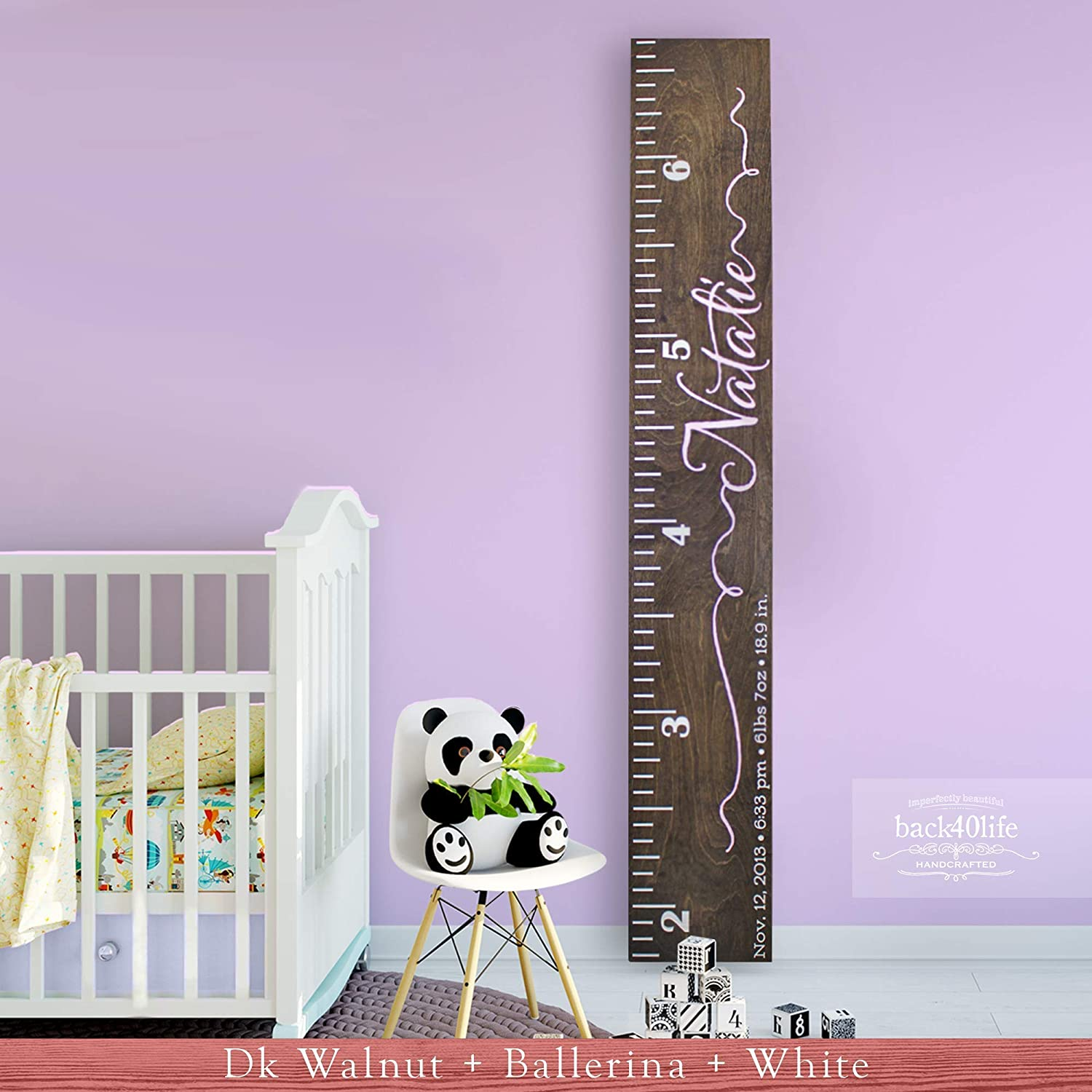 Personalized Natural Bi Planes Childrens Wooden Growth Chart