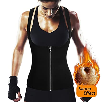 6db40034e4 Image Unavailable. Image not available for. Color  ROMUCHE Waist Trainer Vest  for Weight Loss - Women Neoprene Sauna Sweat Tank Top ...