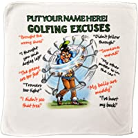 personalised4u Golf Excuses Microfibre Cleaning Cloth – Perfect for cleaning Golf Balls and Golf Clubs – Makes an Ideal Gift